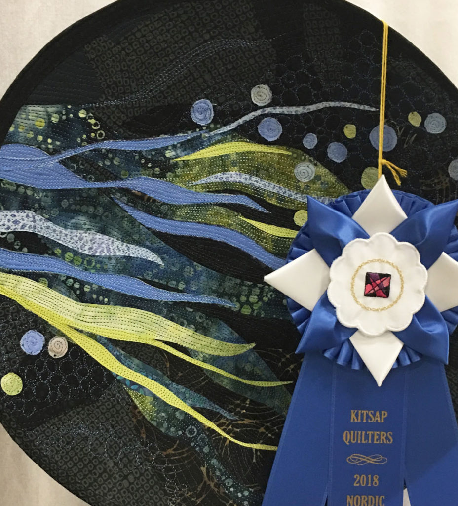 "1005 ""Into the Deep"" by Carol Michel, 1st place Miscellaneous Category, 2018 Kitsap Quilt Show"