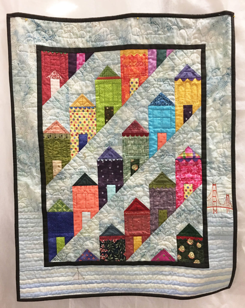 "1206 ""Best Date Revisted"" by Linda Johnson, 2nd place Challenge Traditional, 2018 Kitsap Quilt Show"