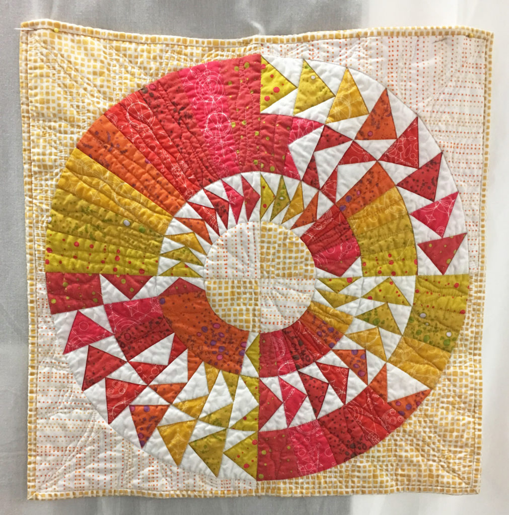 1210 Summer Solstice by Becky Rico, 3rd Place Challenge Traditional, 2018 Kitsap Quilt Show