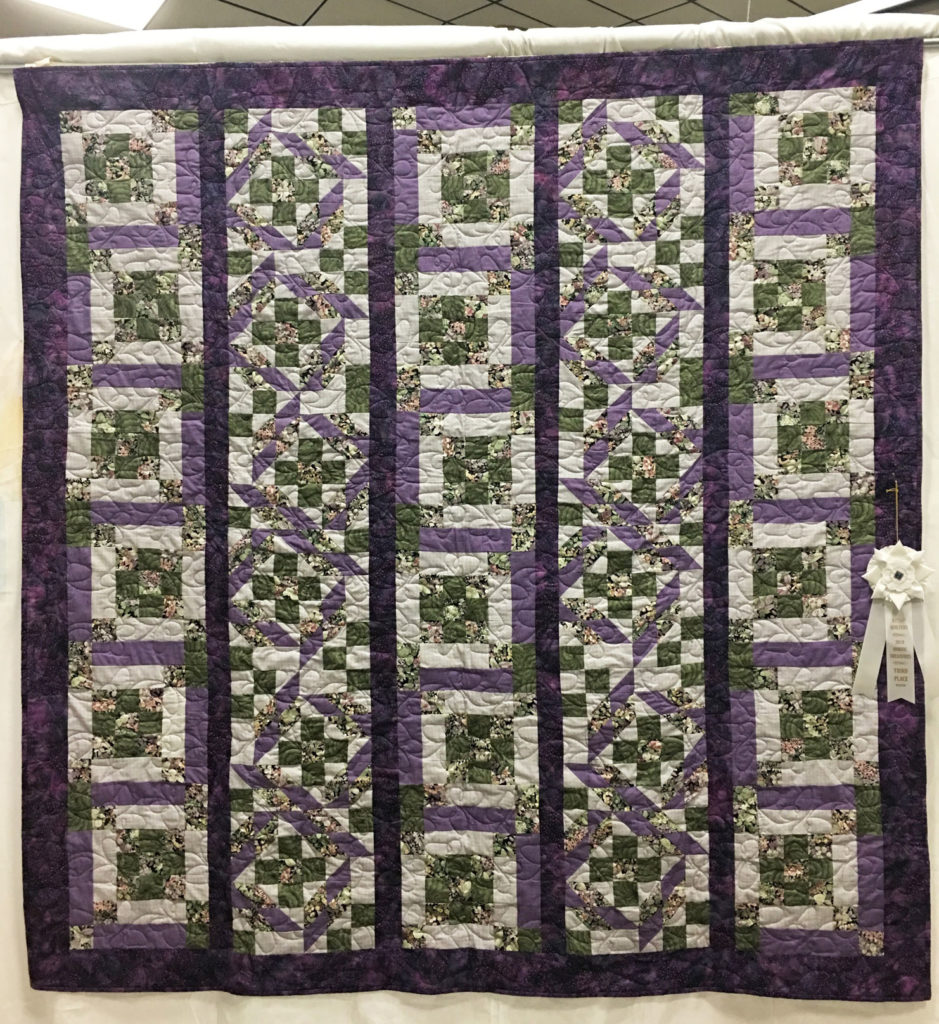 """1405 """"Plan 'B'"""" by Norma Tipton, quilted by Frankie at WCCW, 3rd Place 2017 Mystery Quilt, 2018 Kitsap Quilt Show"""