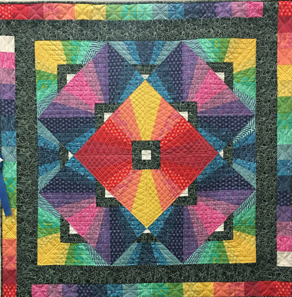 """306 """"Best Prism Ever"""" by Marj Deupree, 1st place Med/Large Individual Quilt, 2018 Kitsap Quilt Show"""