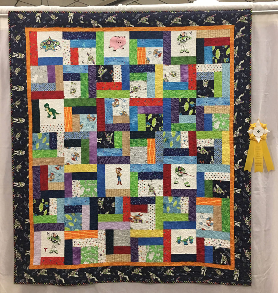 "310 ""To Infinity and Beyond"" by Kathy Beach, HM Large/Med Individual Quilt, 2018 Kitsap Quilt Show"