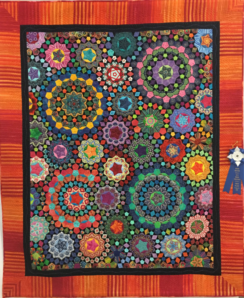 "416 ""A Passion for Color"" made by Ann Trujillo, quilted by Celeste Alexander, 1st Place Med/Lg Group, 2018 Kitsap Quilt Show"
