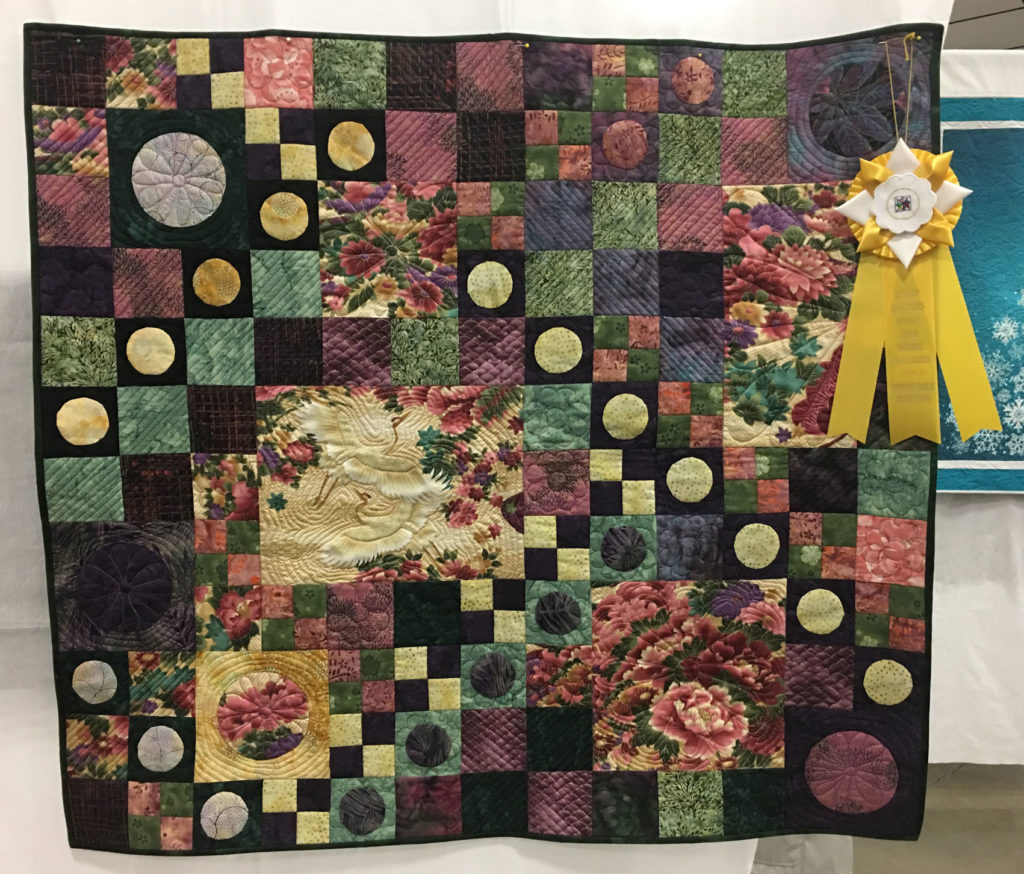 "711 ""Broken Garden Path"" by Donna Gearns, HM Small Quilt, 2018 Kitsap Quilt Show"