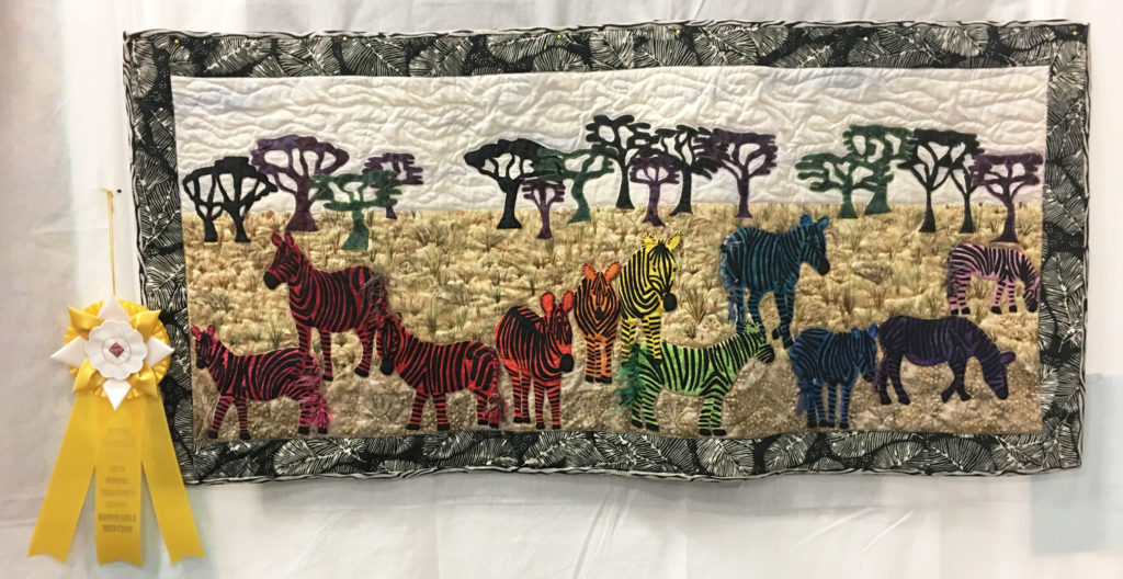 "906 ""If I was in Charge"" by Carol Bracher, HM Art Quilt, 2018 Kitsap Quilt Show"