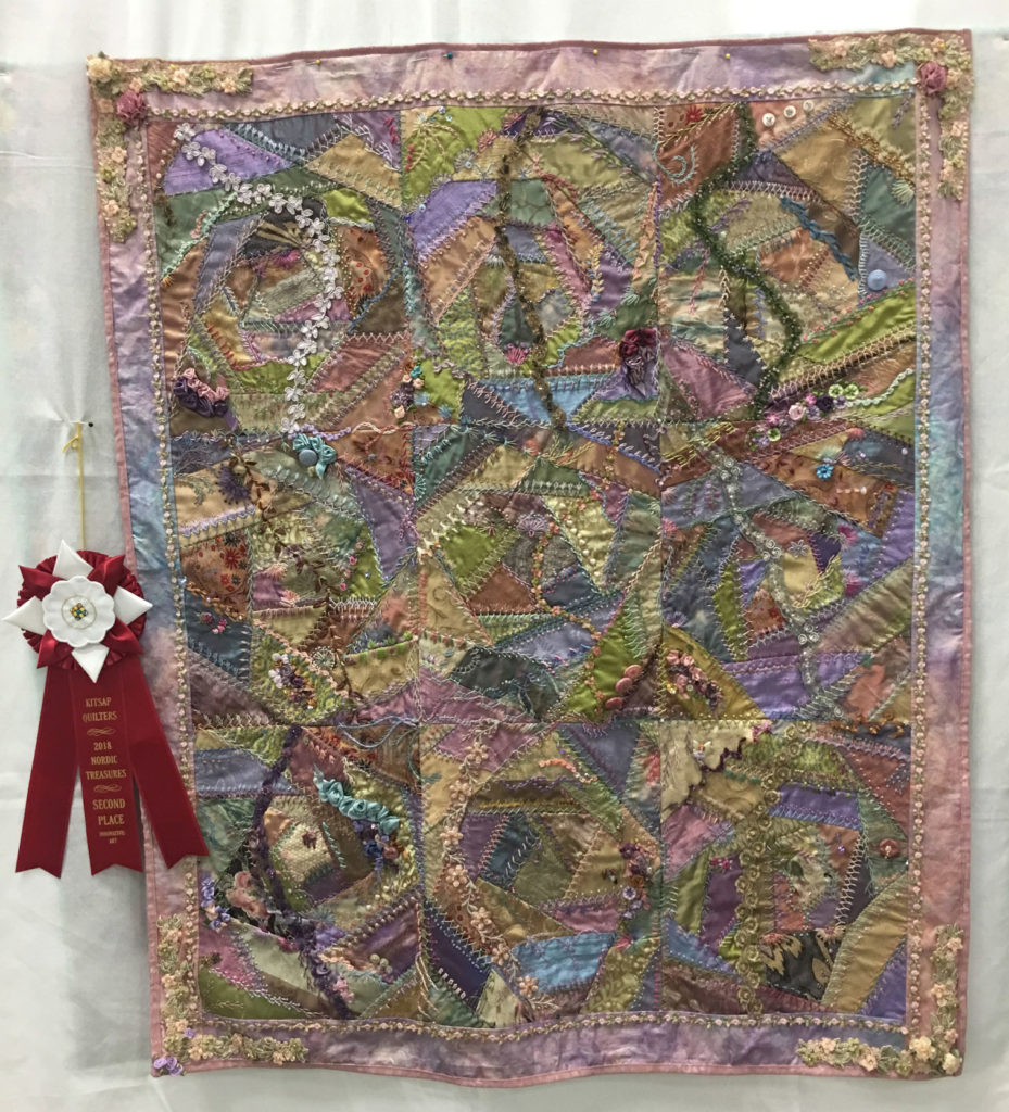 "907 ""Fractured Wrist"" by Sharon Burrer, 2nd Place Art Quilt, 2018 Kitsap Quilt Show"